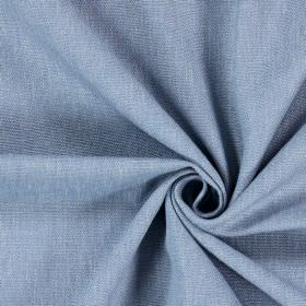 Saxon - Shale - Plain fabric woven in a light, powder blue colour