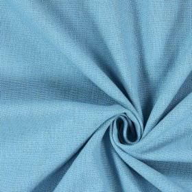 Saxon - Azure - Plain woven light blue coloured fabric