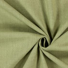 Saxon - Moss - Swatch of plain, woven, Army green coloured fabric