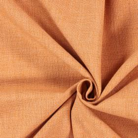 Saxon - Copper - Swatch of plain light orange coloured fabric