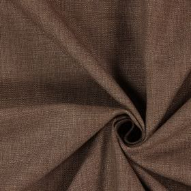 Saxon - Bramble - Fabric woven in dark grey-brown, with no pattern