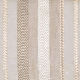 Varnamo - Linen - Fabric sandy stripes of various shades with herringbone pattern