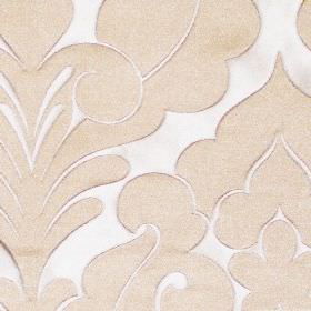 Ystad - Latte - Oyster white fabric with a  latte brown classic decorative impression