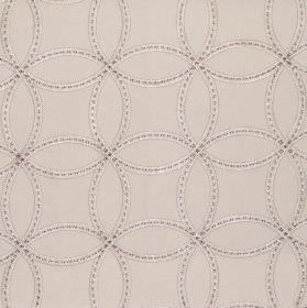 Larvik - Linen - Linen sandy fabric with stitched on overlapping circles