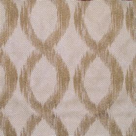 Karlstad - Linen - Linen sandy decorated with vertical brown double helixes