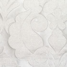 Ystad - Oyster - Oyster white fabric with a classic decorative impression