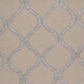 Vanberg - Putty - Putty brown fabric with vertical wavy lines