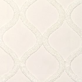 Vanberg - Vanilla - Vanilla white fabric with vertical wavy lines