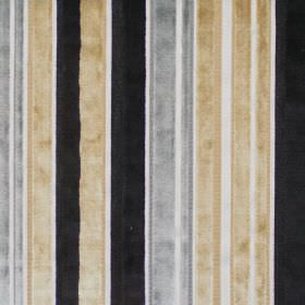 Glamour - Parchment - Reflective fabric with parchment yellow stripes