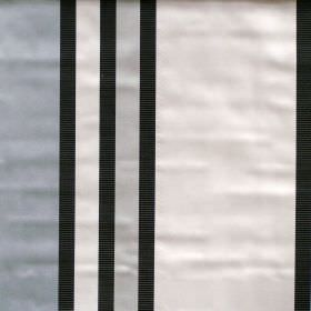 Superb - Parchment - Lightly reflective fabric with parchment white wide stripes