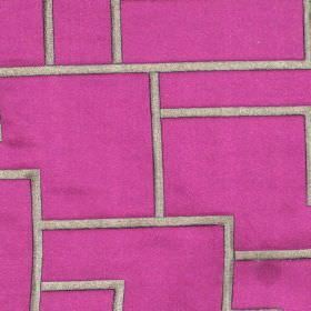 Style - Mulberry - Geometric bodies on mulberry pink satin fabric