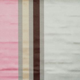 Superb - Carnation - Lightly reflective fabric with carnation pink wide stripes