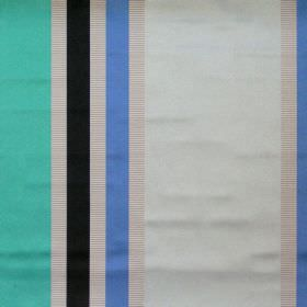 Superb - Sapphire - Lightly reflective fabric with sapphire blue wide stripes