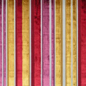 Glamour - Claret - Reflective fabric with claret red stripes