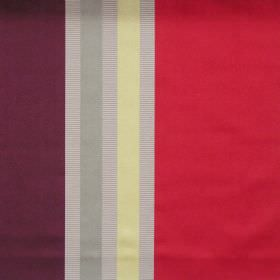 Superb - Claret - Lightly reflective fabric with claret red wide stripes