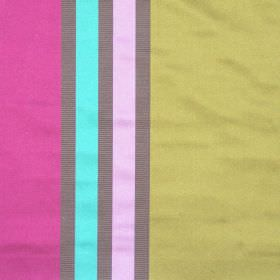 Superb - Mulberry - Lightly reflective fabric with mulberry pink wide stripes
