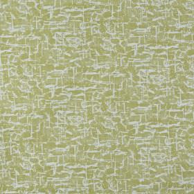 Spitalfields - Fennel - A patchy, streaky effect covering 100% cotton fabric in pale grey-white and light olive green colours