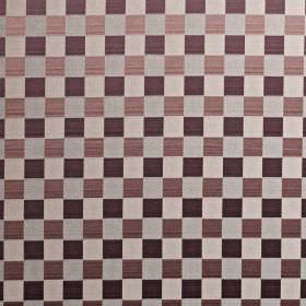 Dimension - Dubarry - Various light and dark shades of purple making up a stylish checkerboard pattern on cotton and polyester blend fabric