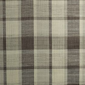 Ratio - Mocha - Fabric made in charcoal & various dark shades of grey from a blend of polyester, cotton & viscose, with a checked design