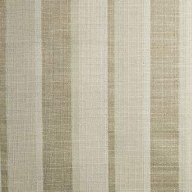 Relief - Pearl - Vertically striped polyester, cotton and viscose blend fabric, woven in subtle, light shades of beige