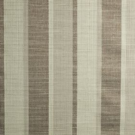 Relief - Latte - Putty, brown-grey and pale grey coloured polyester, cotton and viscose blend fabric, woven with a vertical stripe design
