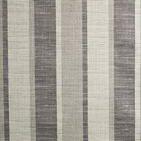 Relief - Chrome - 3 different shades of grey making up a stylish semi-plain stripe design on fabric woven from polyester, cotton & viscose