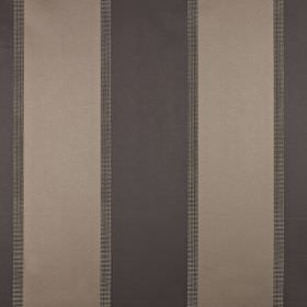 Scope - Mocha - Slate grey and warm grey-brown making up a luxurious, extravagant vertically striped cotton and polyester blend fabric