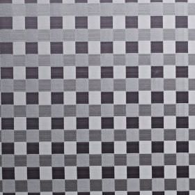 Dimension - Chrome - Fabric made from cotton and polyester with a simple, stylish checkerboard pattern in various different shades of grey