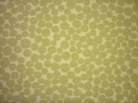Fizz - Parchment - Olive green coloured circles and pebble shapes against a background of 100% cotton fabric in a slightly lighter shade