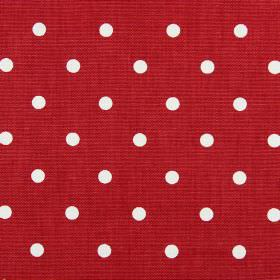 Full Stop - Cardinal - Postbox red coloured 100% cotton fabric covered with a simple polka dot design in white