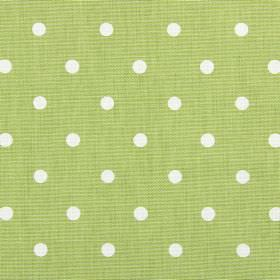Full Stop - Eucalyptus - Polka dot patterned 100% cotton fabric with a design in white and light green