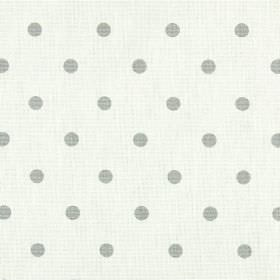 Full Stop - Rubble - Grey polka dots printed on milk white coloured 100% cotton fabric
