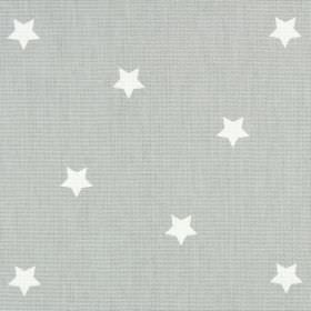 Twinkle - Rubble - Star print fabric made in light grey and white from 100% cotton