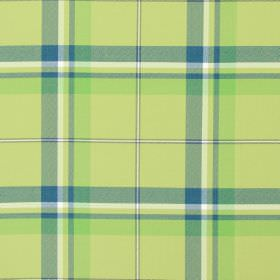 Canopy - Apple - Apple green and blue tartan fabric