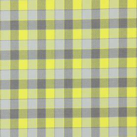 Track - Daffodil - Daffodil yellow and brown tartan fabric