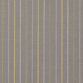 Trail - Daffodil - Grey fabric with daffodil yellow vertical stripes