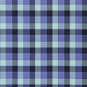 Track - Bluebell - Bluebell blue and black tartan fabric
