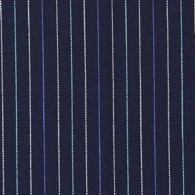 Trail - Bluebell - Black fabric with bluebell blue vertical stripes