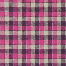 Track - Fuchsia - Fuchsia pink and black tartan fabric