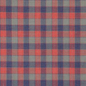 Track - Navy & Red - Navy blue and red tartan fabric