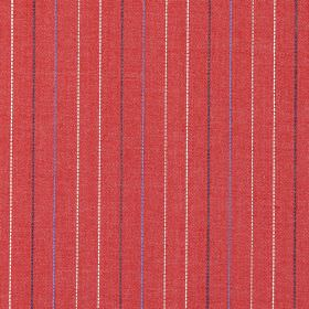 Trail - Red - Red fabric with colourful vertical stripes