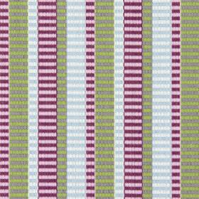 Heights - Foxglove - Fabric with foxglove purple and green vertical bands, and faded horizontal stripes giving it a modern appearance