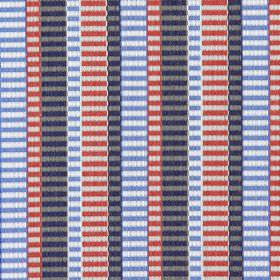 Heights - Navy & Red - Navy blue and red vertical bands, and faded horizontal stripes giving it a modern appearance