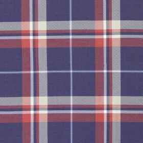 Canopy - Navy & Red - Navy blue and red tartan fabric