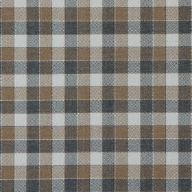 Track - Mushroom - Mushroom brown and black tartan fabric