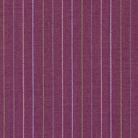 Trail - Foxglove - Foxglove purple fabric with multicolour vertical stripes