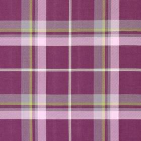 Canopy - Foxglove - Foxglove purple and green tartan fabric