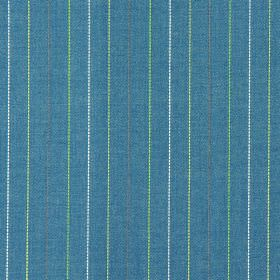 Trail - Apple - Blue fabric with apple green vertical stripes