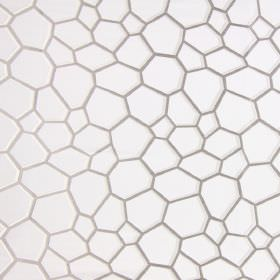 Westwood - Pearl - Modern pearl white fabric with sandy scales