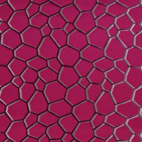 Westwood - Magenta - Modern magenta pink fabric with brown scales